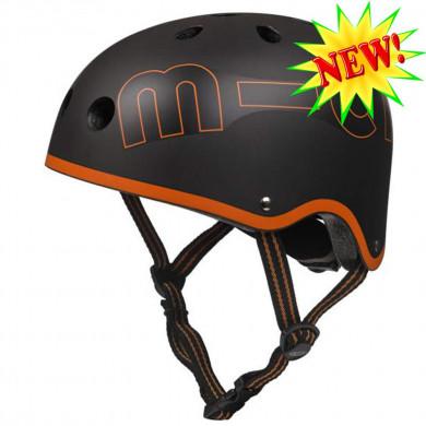 Защитный шлем Micro black-orange размер S