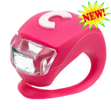 Фонарик Micro Deluxe pink на руль самоката и беговела