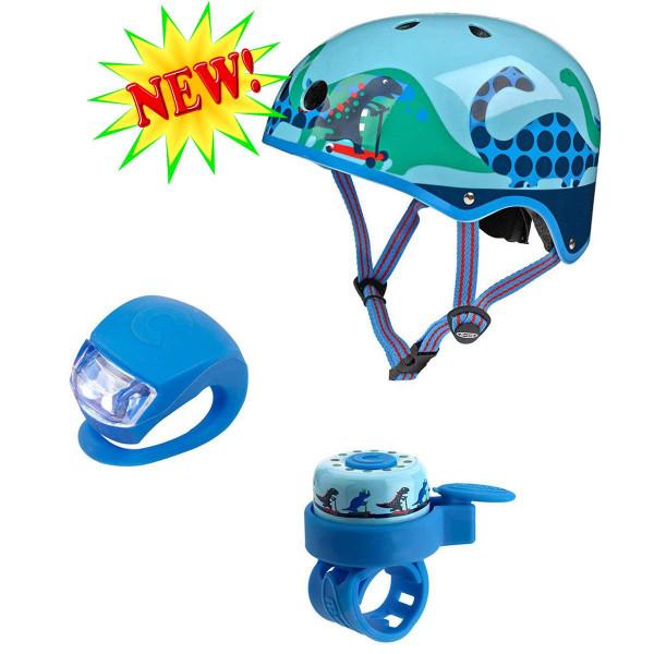 Набор аксессуаров со шлемом Micro Dino light blue размер М