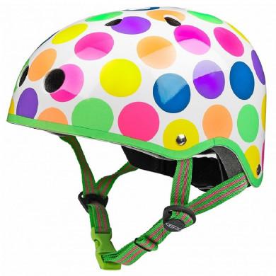 Защитный шлем Micro неоновый горох размер S