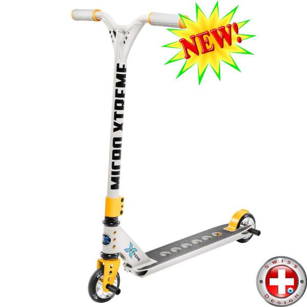 Micro MX Trixx 2.0 grey-yellow трюковой самокат