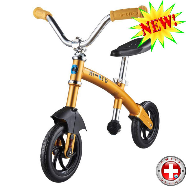 Micro G-bike Chopper Deluxe yellow (Микро Джи-Байк Чопер Делюкс желтый) беговел