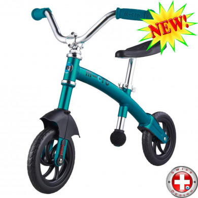Micro G-bike Chopper Deluxe aqua (Микро Джи-Байк Чопер Делюкс синий) беговел