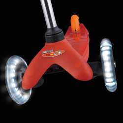 Трехколесный самокат Mini Micro LED red со светящимися колесами