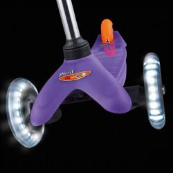 Трехколесный самокат Mini Micro LED purple со светящимися колесами