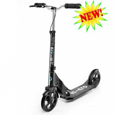 Micro scooter Downtown black (Микро скутер) самокат c ручным тормозом