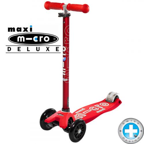 Детский трехколесный самокат Maxi Micro Deluxe red (красный)
