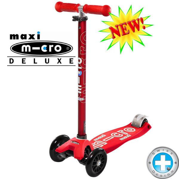 Maxi Micro Deluxe red (Макси Микро Делюкс красный) трехколесный самокат