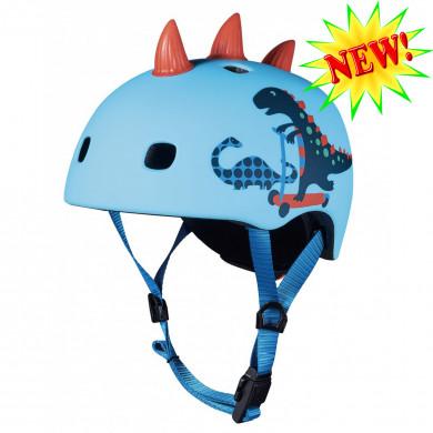 Защитный шлем Micro Deluxe Dino 3D light blue размер M