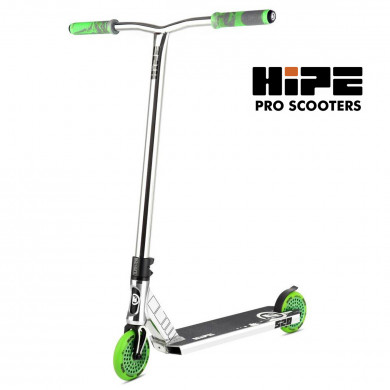 Трюковой самокат HIPE S20 chrome-green