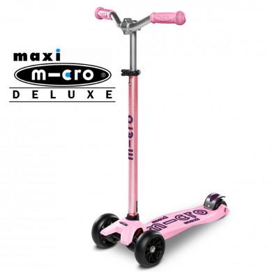 Детский трехколесный самокат Maxi Micro Deluxe Pro pink (розовый)