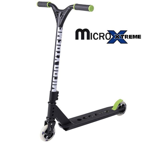 Micro MX Trixx 2.0 black-green трюковой самокат