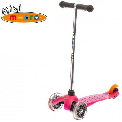 Трехколесный самокат Mini Micro pink для детей от 2 до 5 лет