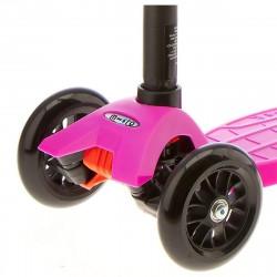 Трехколесный самокат Maxi Micro T-tube pink (розовый) для девочки от 4 до 12 лет