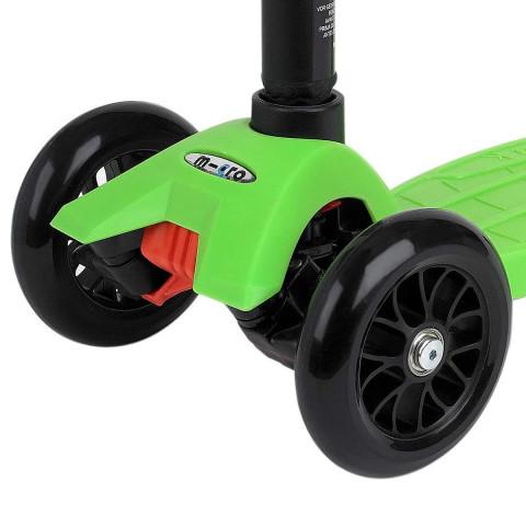 Трехколесный самокат Maxi Micro T-tube lemon green (зеленый) для детей от 4 до 12 лет