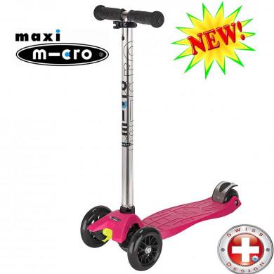 Maxi Micro T-tube raspberry (Макси Микро Т-тьюб малиновый) трехколесный самокат