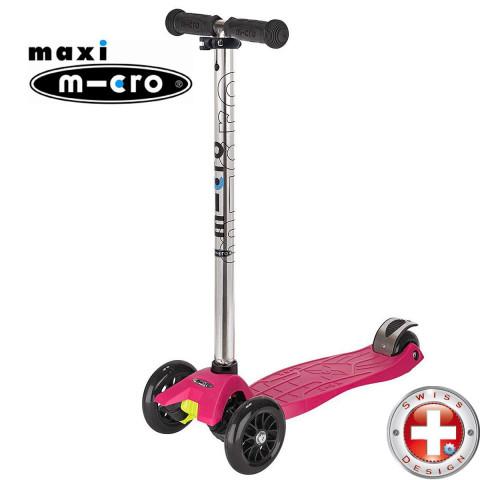 Трехколесный самокат Maxi Micro T-tube (малиновый) для детей от 4 до 12 лет