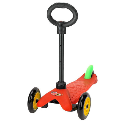 Трехколесный самокат с сиденьем Micro Mini Sporty 3in1 Lollipop red (красный) для малышей от 1 года до 5 лет